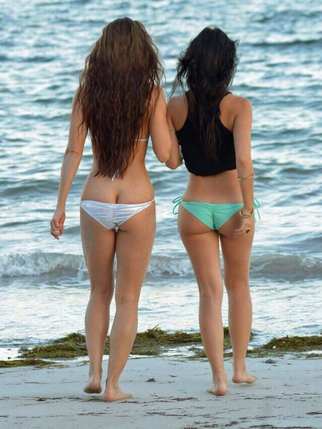 Bikinis with stiching down butt crack