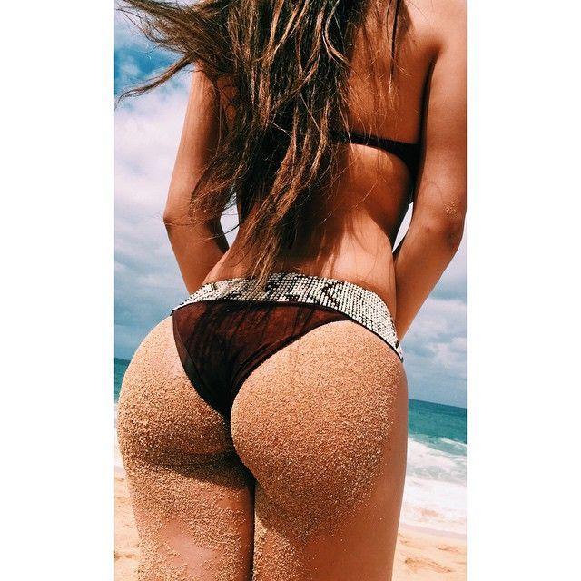 Expose ass cheeks butt thong