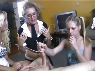 Moonshine reccomend Handjob lesson. Group adult video