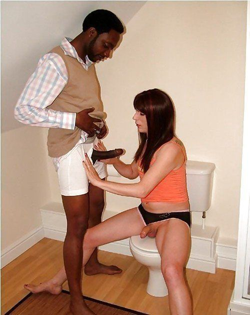 Interracial in toilet porn