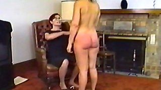 Bent over nude pussy