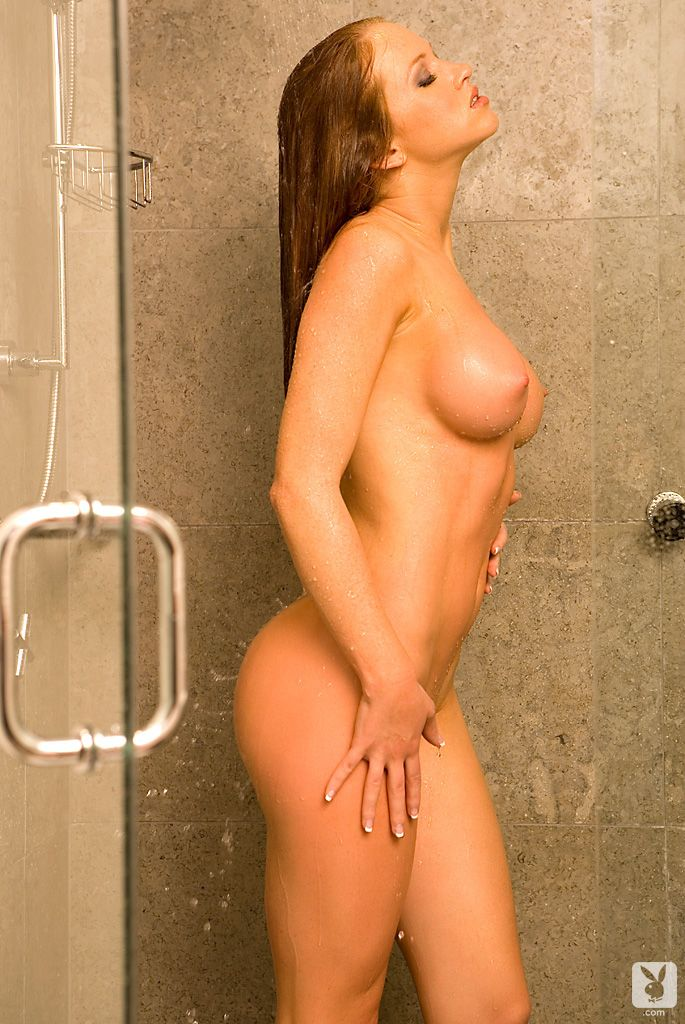 Playboy nude in shower something is