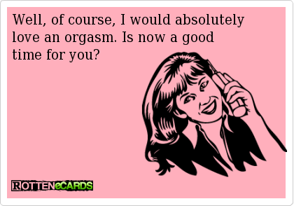 Orgasm e card