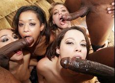 Big black cock orgy