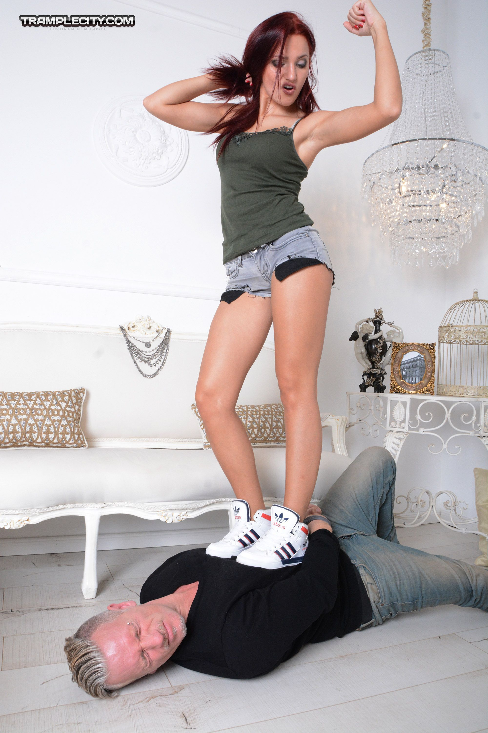 Foot-long reccomend Sneakers trampling fetish
