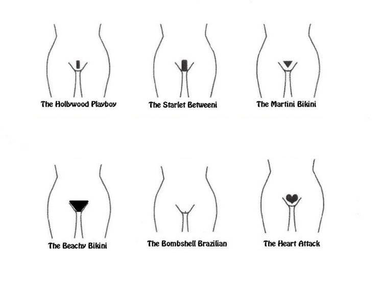 Bikini waxing guides