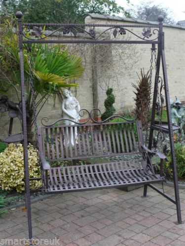 Chrysanthemum reccomend Metal swinging garden bench