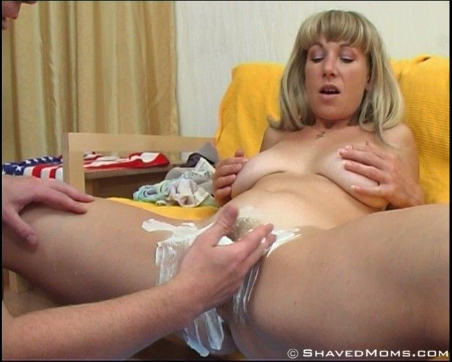 Rosebud reccomend Milf hairy pussy being shaved
