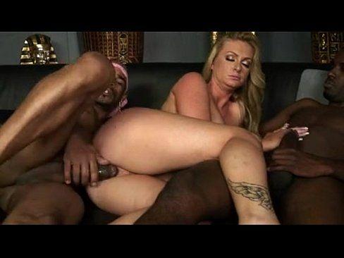 Interracial double black cocks in ass