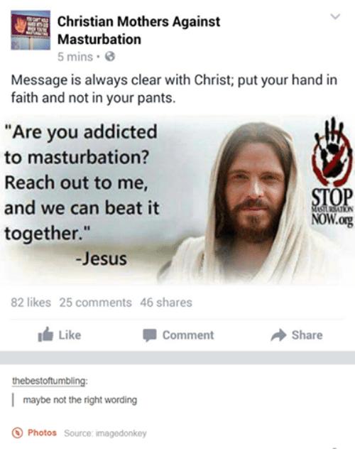 Copycat reccomend Christians + masturbation