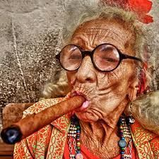 Old midget woman smoking pics