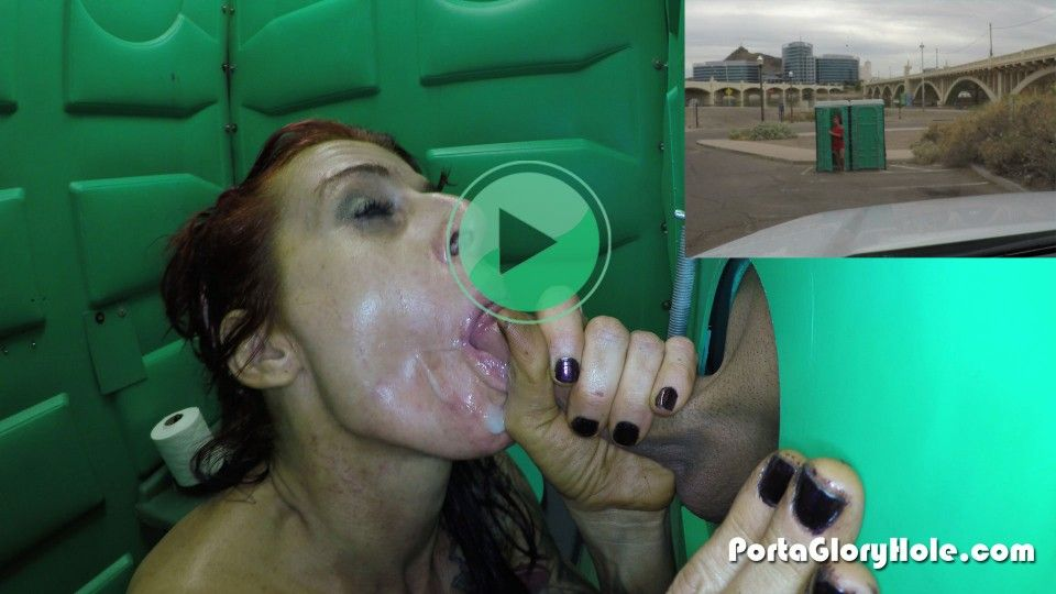 Real rest stop gloryhole girl suck