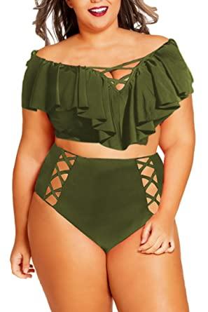 Plus size bikini swimwear