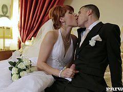 Redhead wedding sex