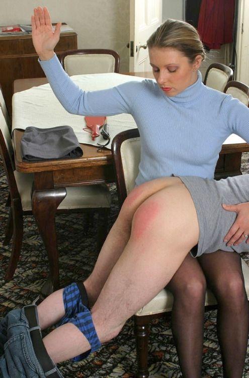 Jetta reccomend Mature lap ruler spank femdom older