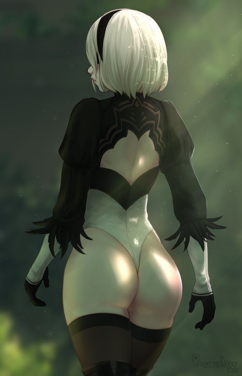 Women white nude booty