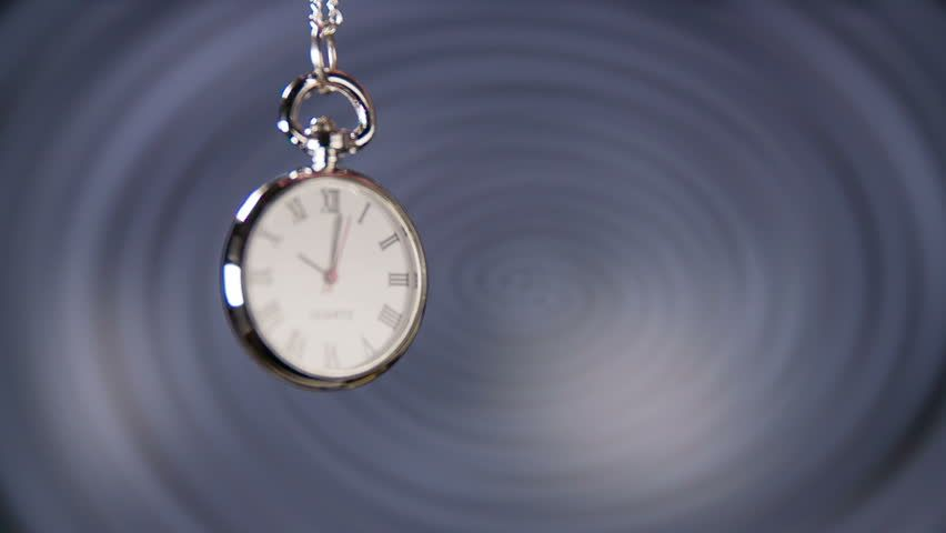 Pocket watch swinging