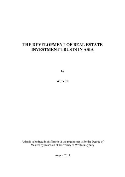 Black P. reccomend Asian real estate investment trust