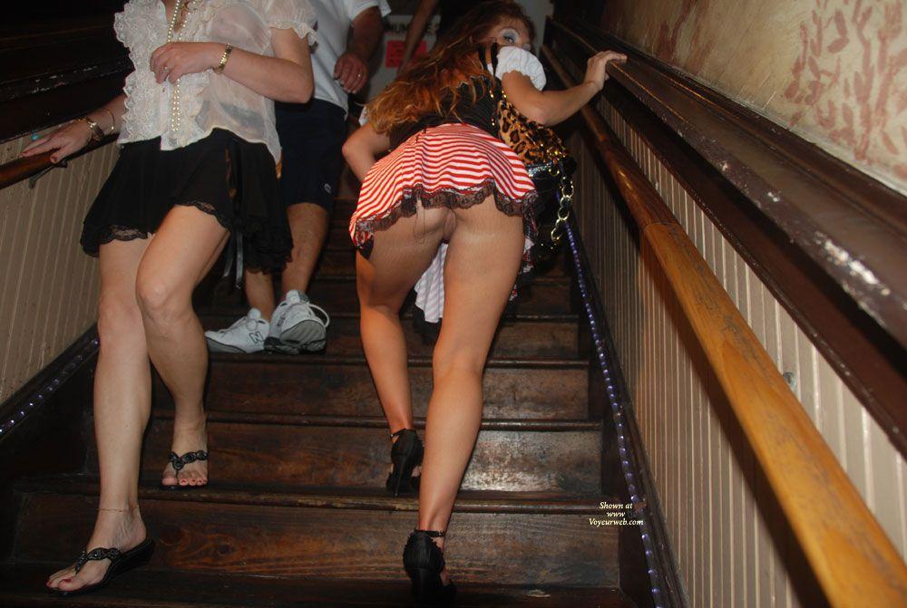 Juke reccomend Stairs upskirt com