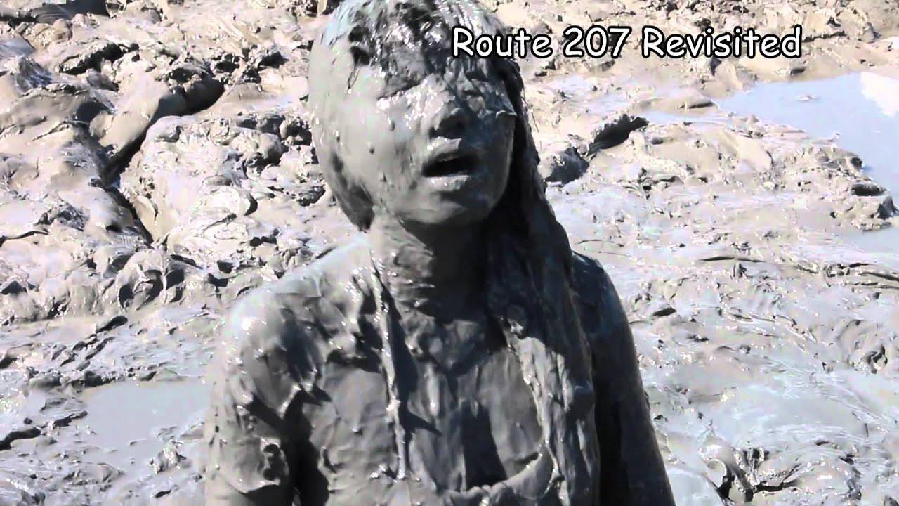 Asian girls mud