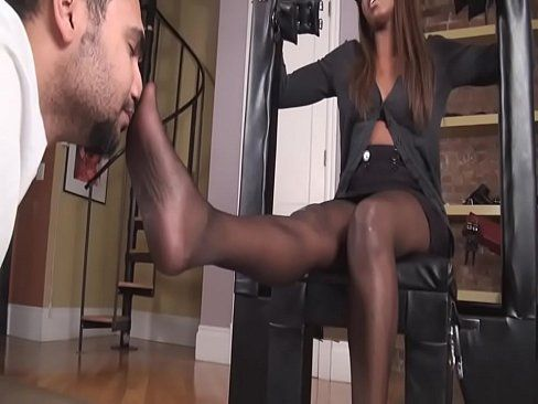 best of Videos tease pantyhose Ebony foot
