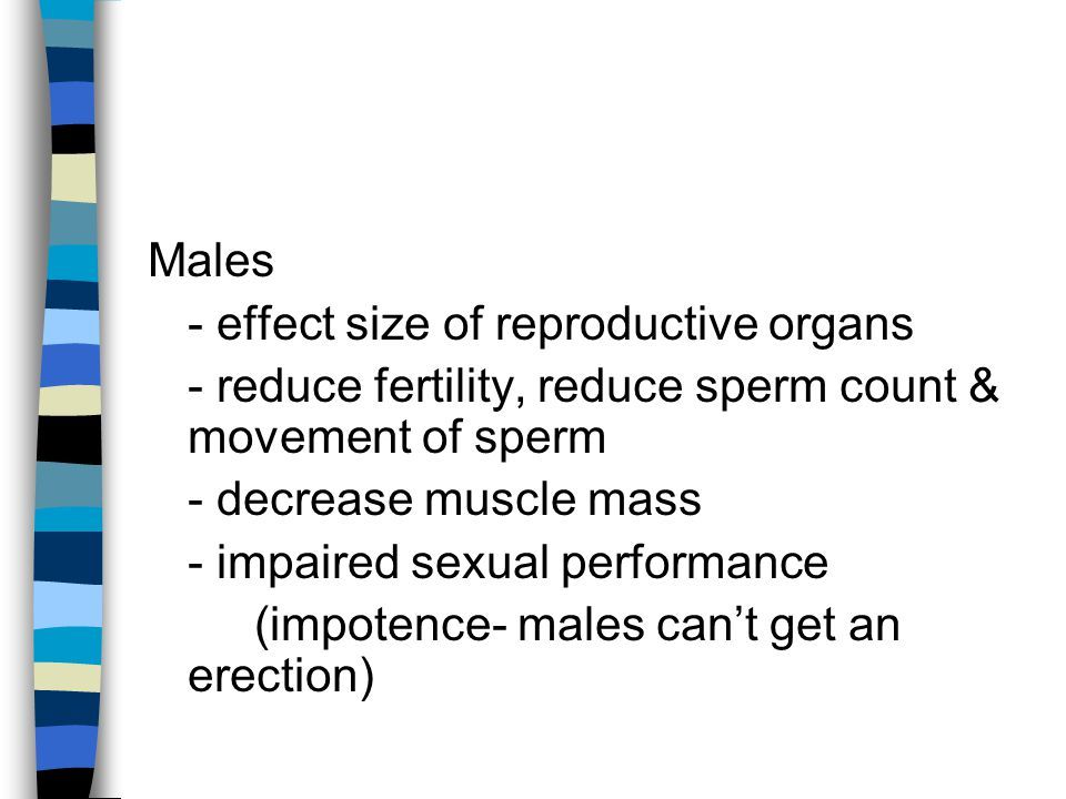 Alien reccomend Impaired movement of sperm