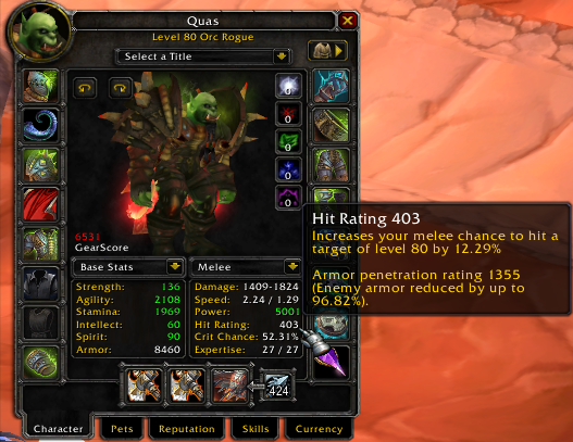 Henchman reccomend Wow armor penetration rating rouge