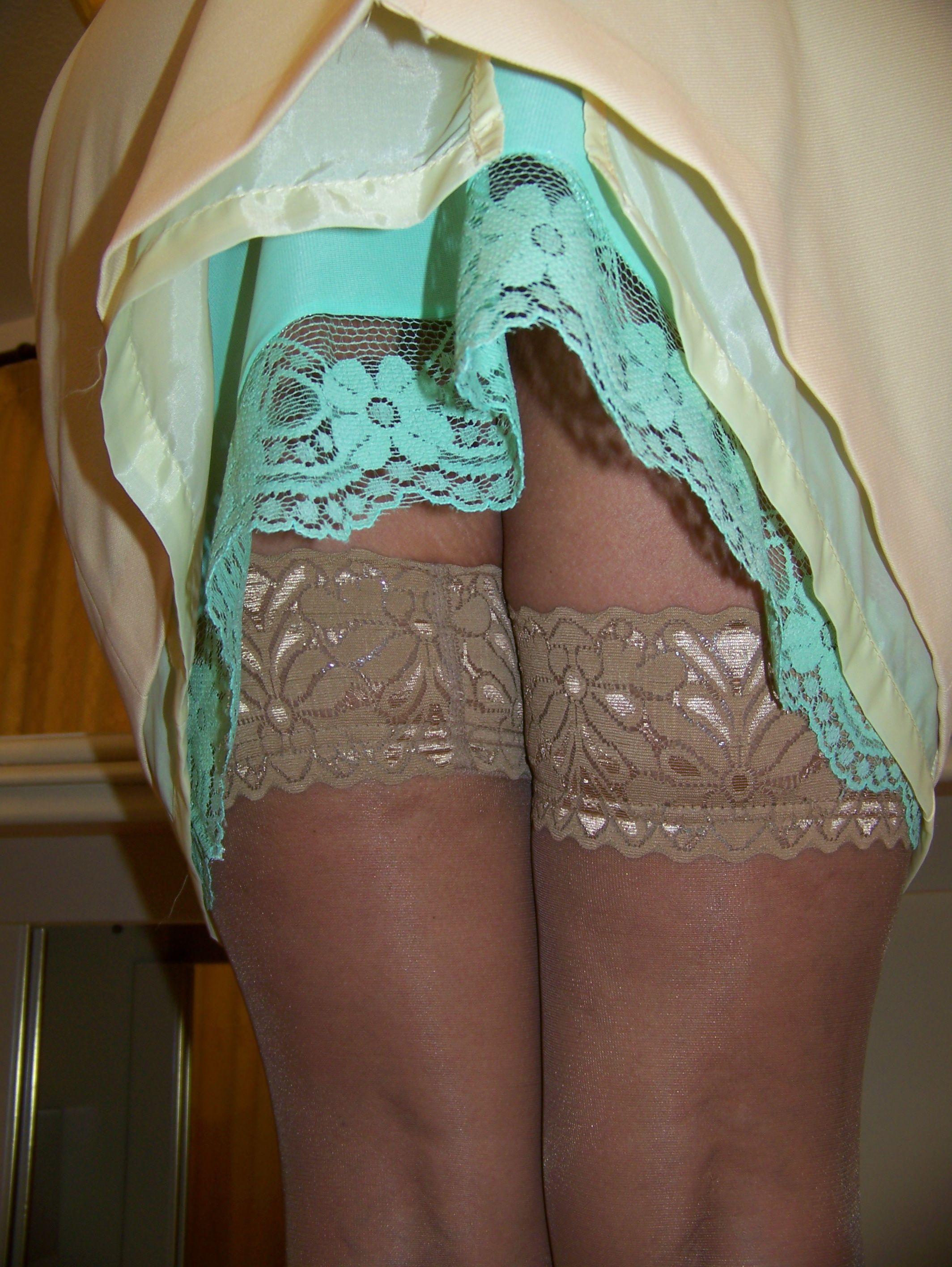 best of Half slips Upskirt