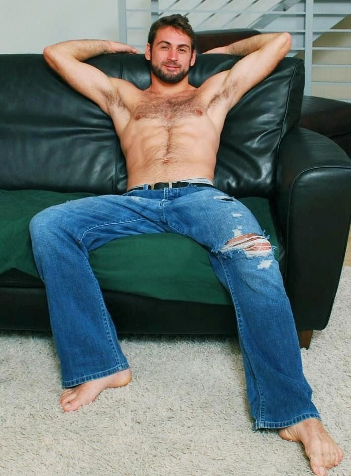 best of Jeans and bare fetish Blue foot
