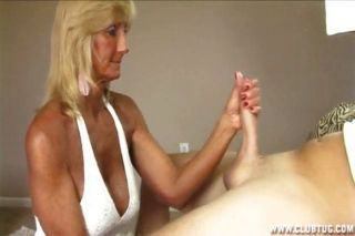 X jerk off with granny
