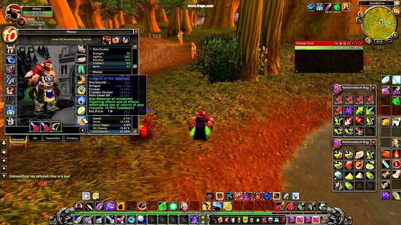 Lvl 29 warrior twink gear