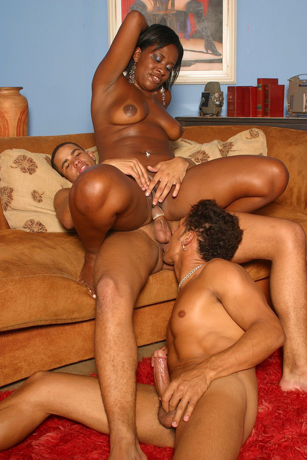 Black bisexual threesome porn