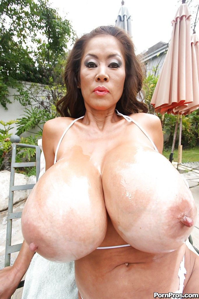 bbw tits topless big Asian