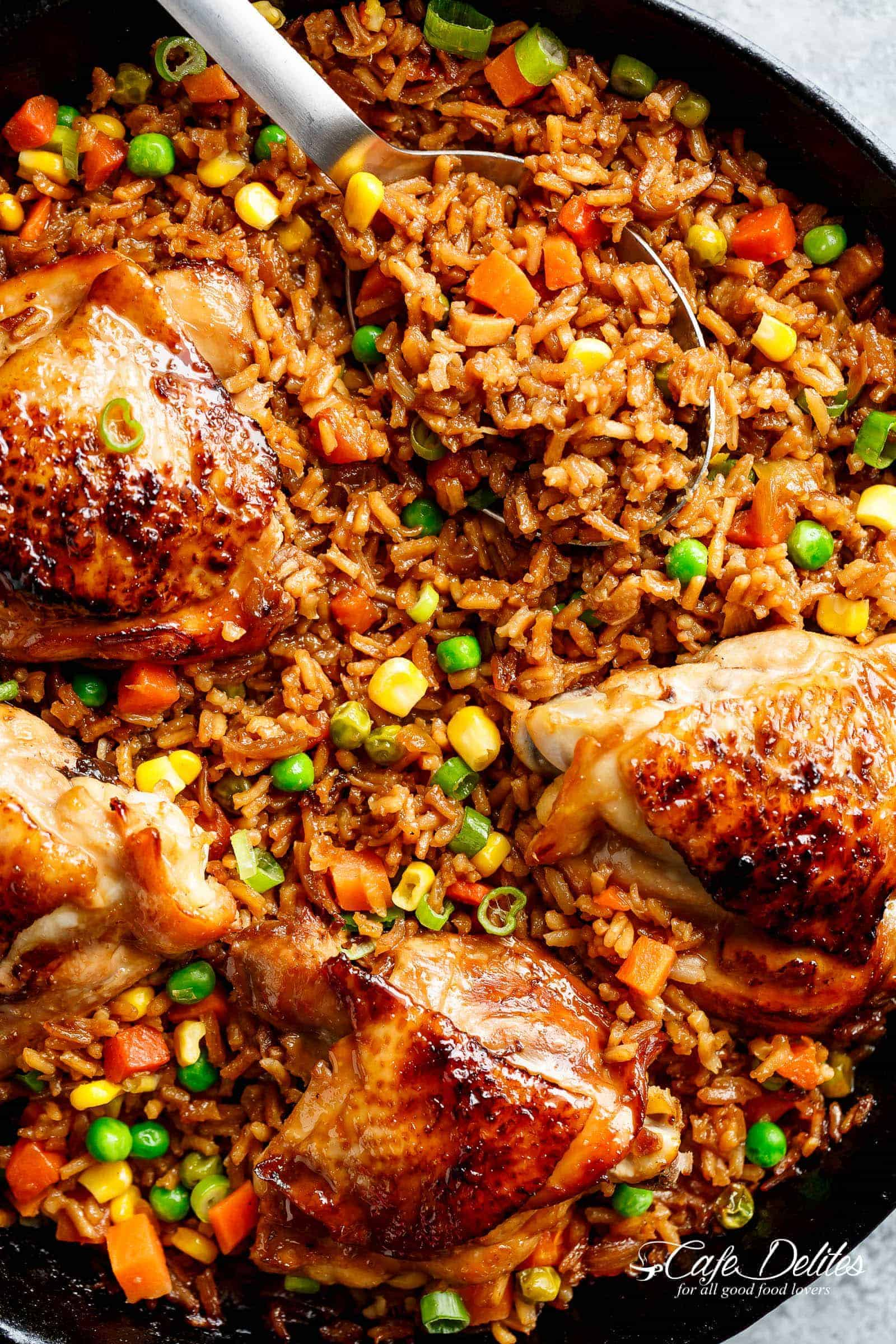 Mammoth reccomend Asian chicken and rice recipe