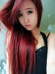 Inventor reccomend Asian hair color red