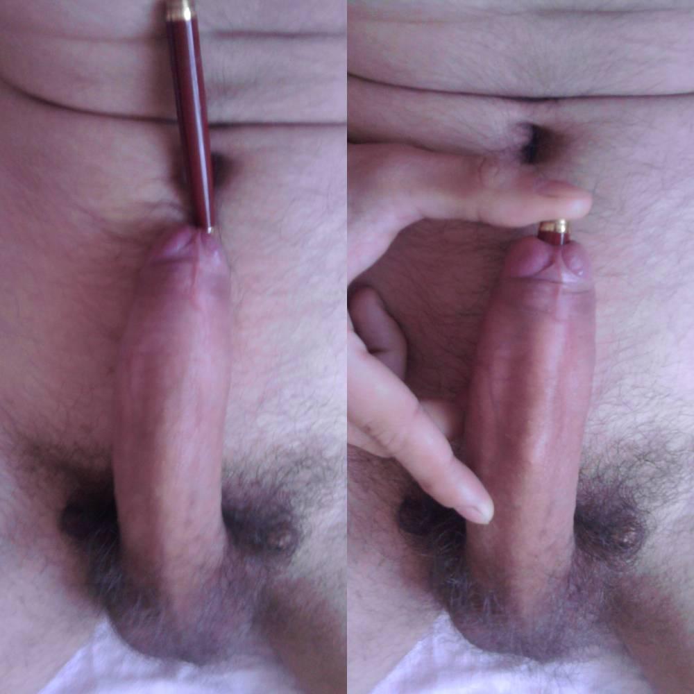 On penis holes skin
