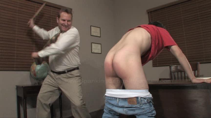 Boy spank video