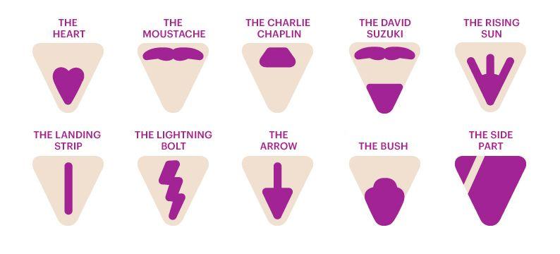 Bikini area shave designs