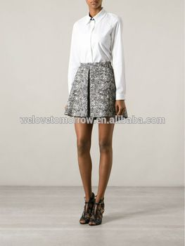 Snazz reccomend Black and white tweed skirt