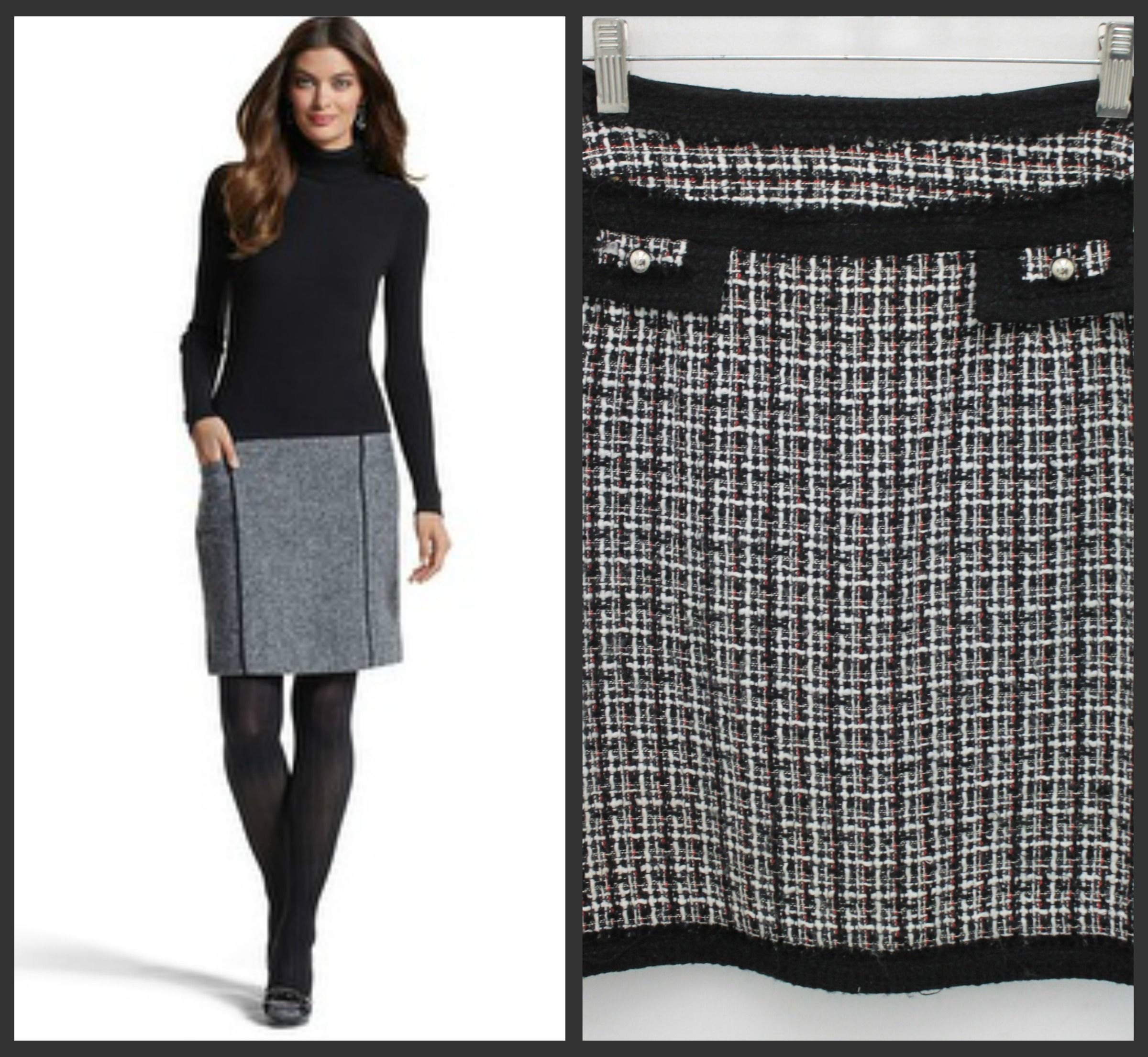 Firestruck reccomend Black and white tweed skirt