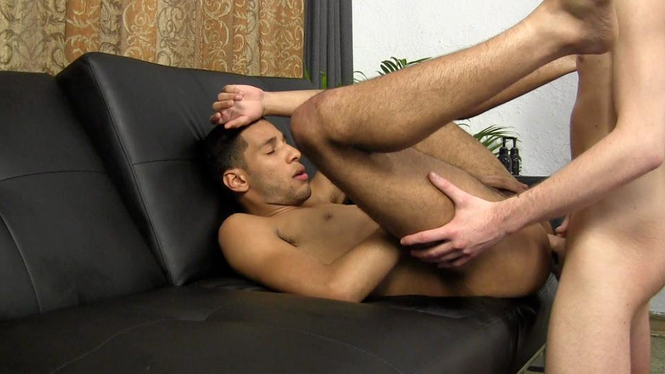 White gay men couch fuck