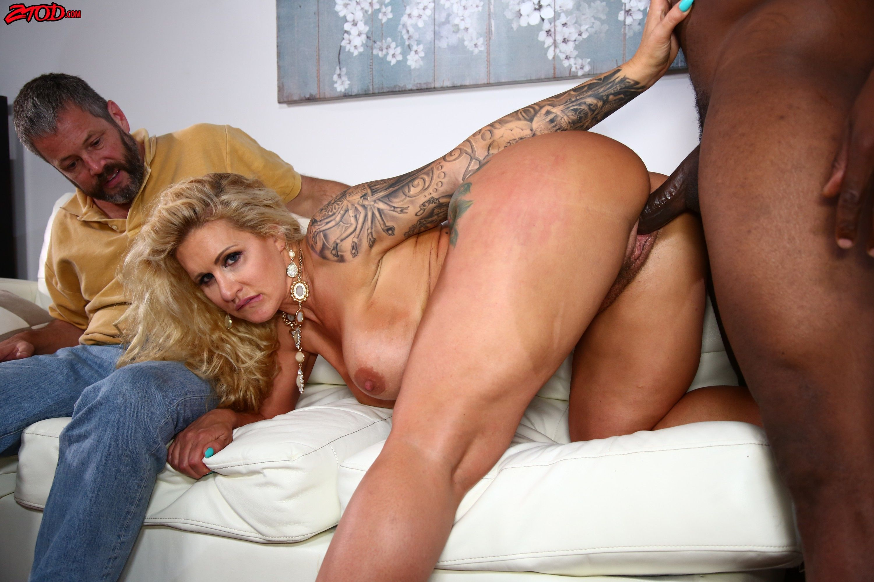 White wife with big black dick