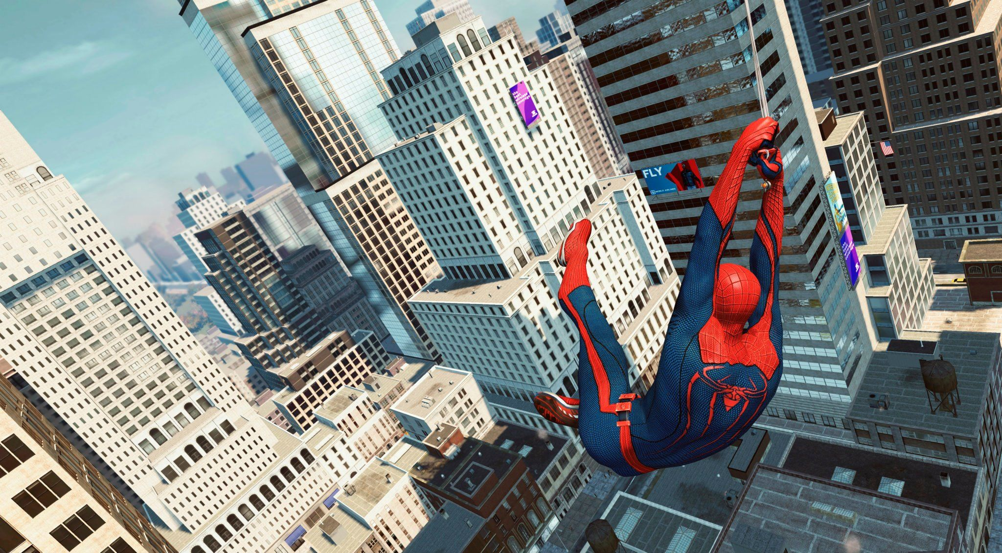 best of Through swinging City screensaver spider man