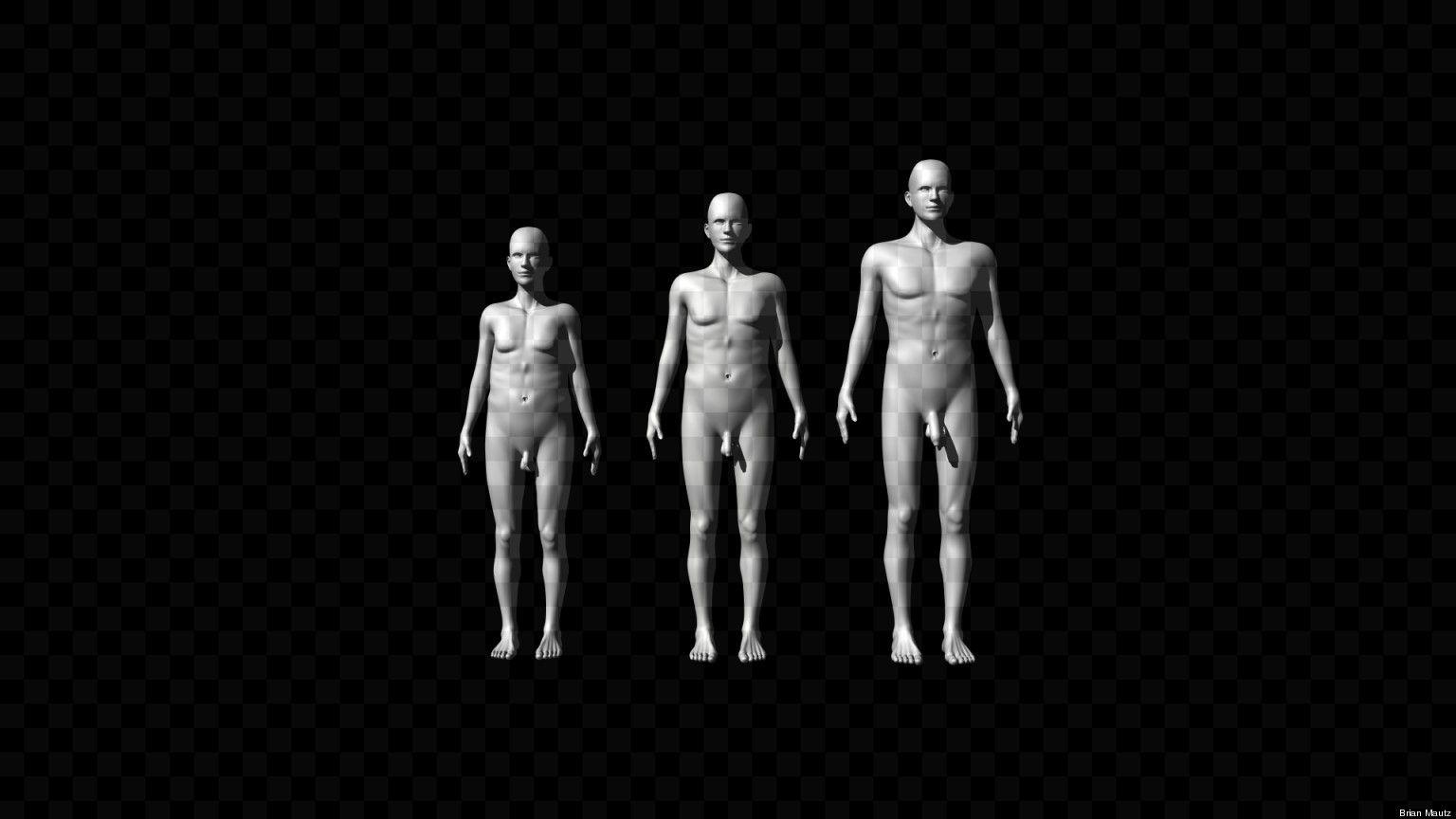 Light skin naked guy body