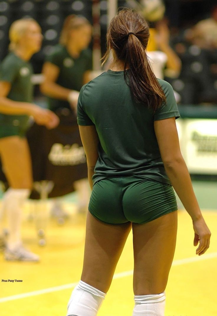 Coed upskirt volleyball