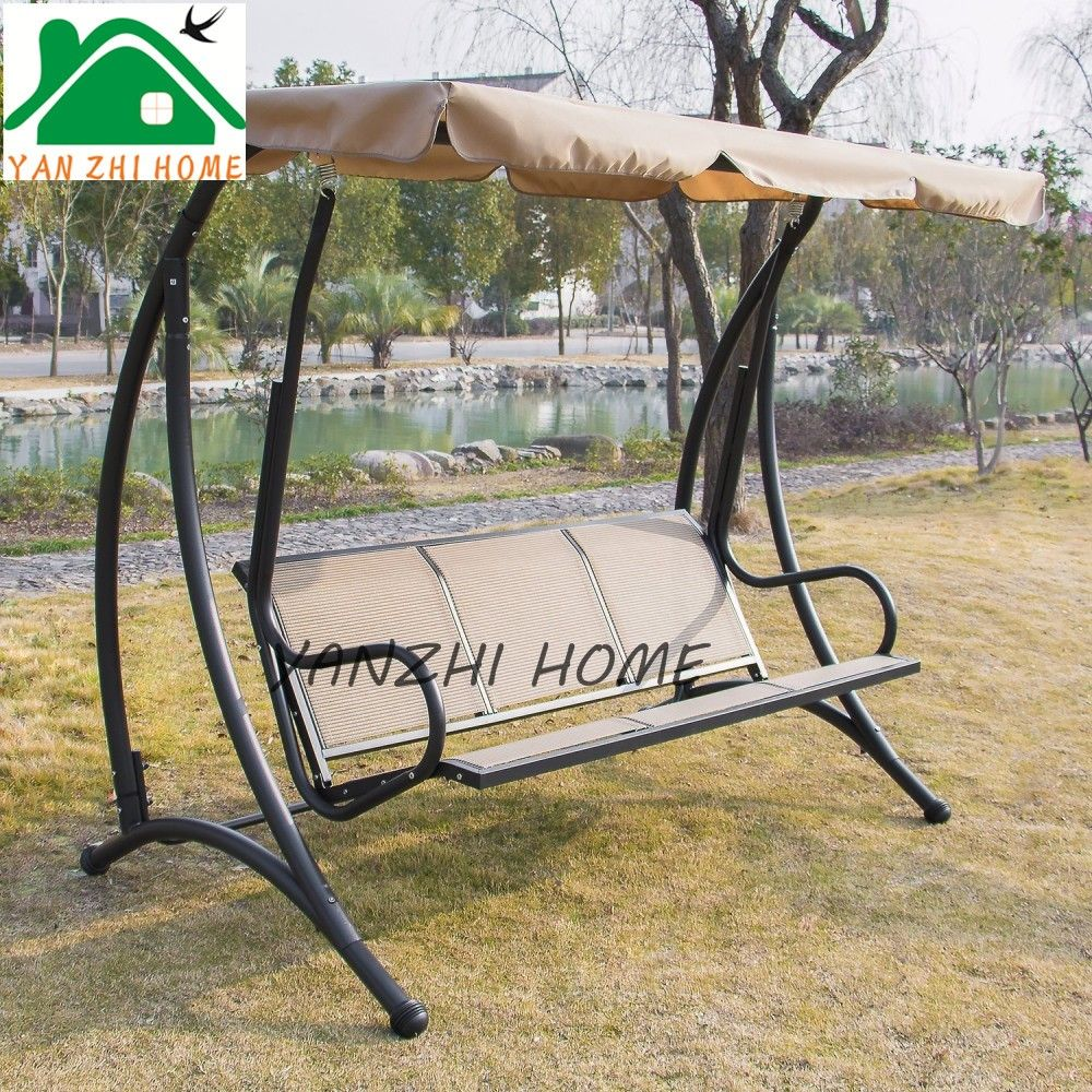 Brownie reccomend Metal swinging garden bench