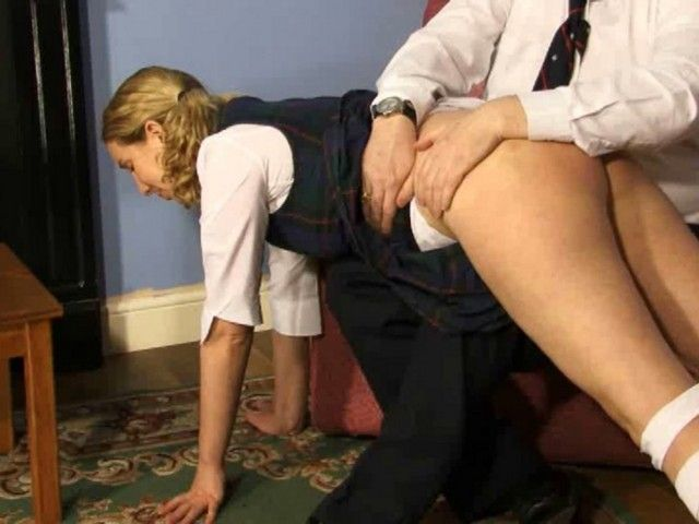 Adult knee over spanking