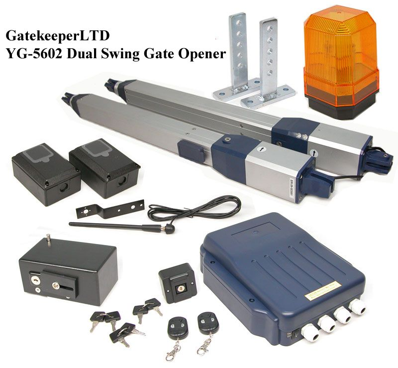 New yg200 dual opener swinging gate gatekeeper for
