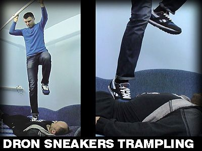 Sneakers trampling fetish