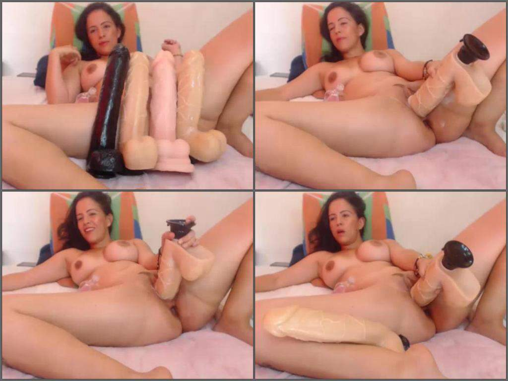 best of Dildo Deep fuck huge